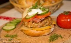 Sertéshúsos hamburger