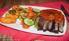 Sirloin steak rozmaringos burgonyával
