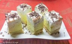 Vaniliás maszkarpónes süti