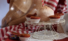 Kókuszlisztes rumos maffin keto