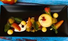 Rózsapálinkás gőzőlt krém almaszósszal keto