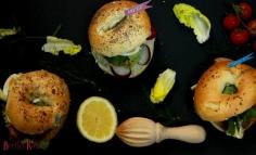 Bagel szendvics sertés hasaljából