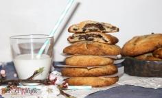 Nutellával töltött csokicsipszes cookie