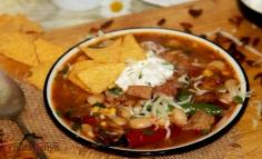 Mexikói csilis bableves